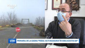 """Primarul de la Sagna: """"Podul va fi inaugurat în vara acestui an"""""""