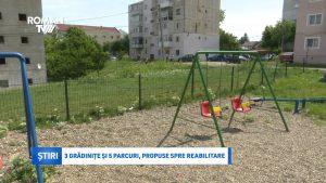 3 grădinițe și 5 parcuri, propuse spre reabilitare
