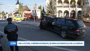 Din 4 victime, 2 rămân internate, în urma accidentului de la Cordun